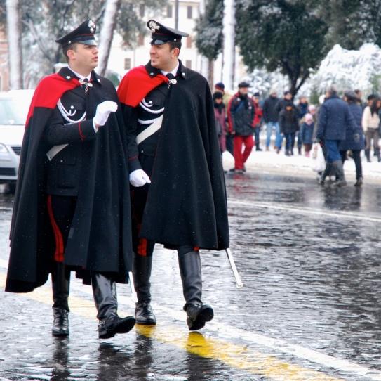 Roma - carabinieri in via dei Fori Imperiali (2012)