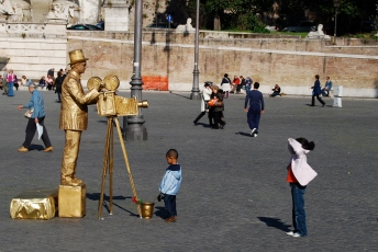 Roma - mimo in Piazza del Popolo (2008)