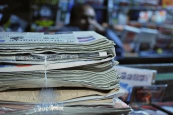 Roma - giornali in via Tiburtina (2014)