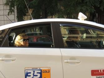 Roma - taxi in via di Porta Maggiore (2013)